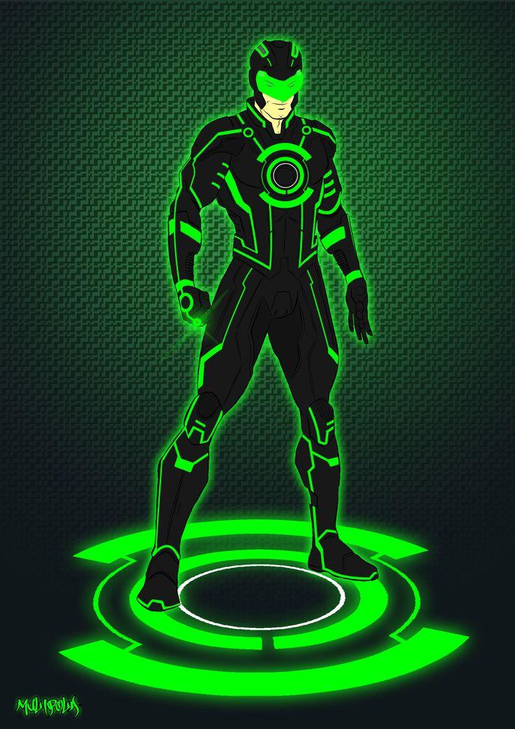 Green Lantern Tron costume by Kid-Liger.deviantart.com
