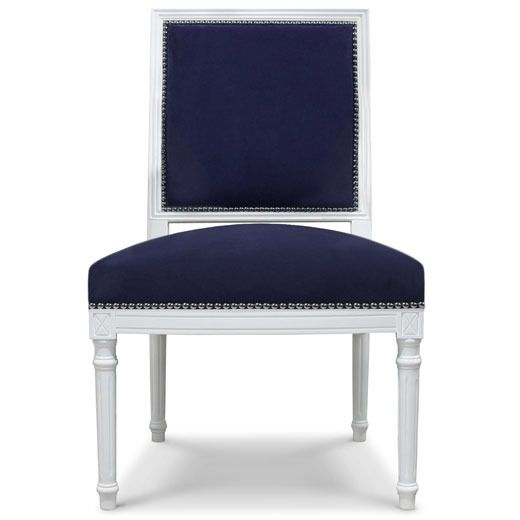 Beautiful.: Dining Rooms Chairs, Chairs Benches, Adler Navy, Dining Chairs, Navy Chairs, Adler Chairs, Beautiful Chairs, Beautiful Side, Chairs Inspiration