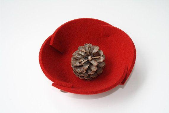 PETITE Felt Bowl in 5mm Thick Virgin Merino Wool door feltplanet