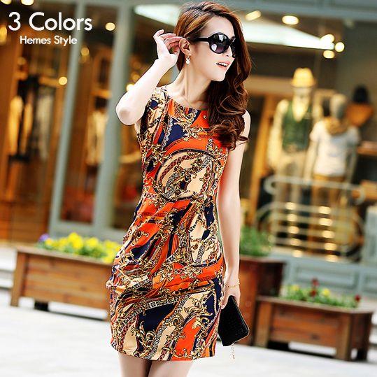 Women Dress Summer Slim Chiffon Dress