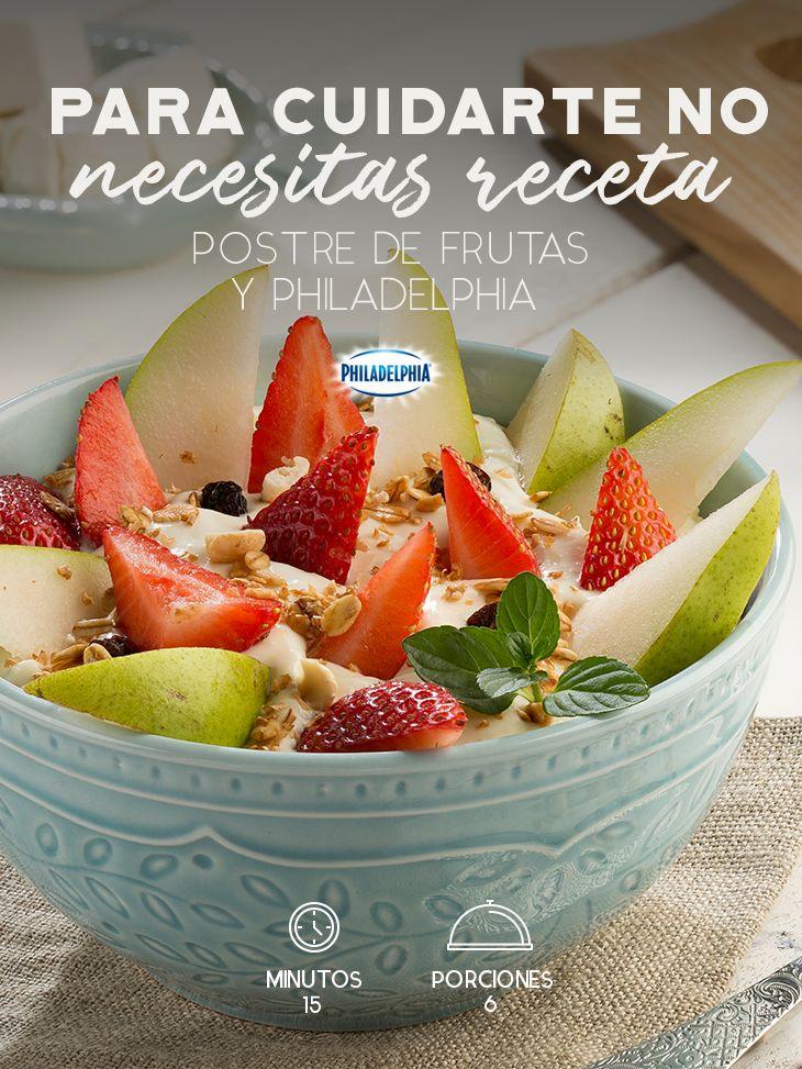 Disfrutar cada mañana un rico desayuno y sentirse bien. #recetas #quesophiladelphia  #philadelphia #fruta #desayuno #ligero #fresas #peras