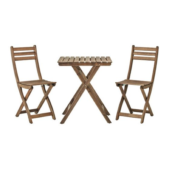 Table+2 chairs, outdoor, ASKHOLMEN