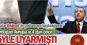 Erdoğan, Terör Saldırıları Konusuda Avrupa'yı 4 Gün Önce Uyarmıştı