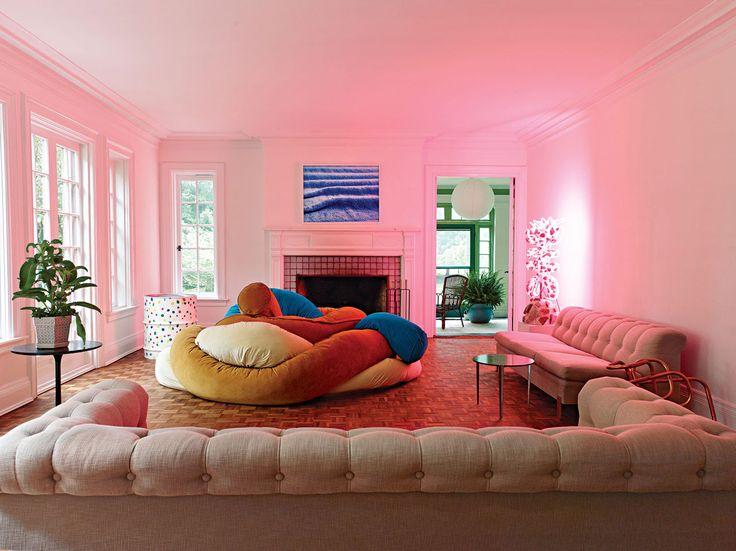 Contemporary Suburban Living Room Model - Living Room Designs ...