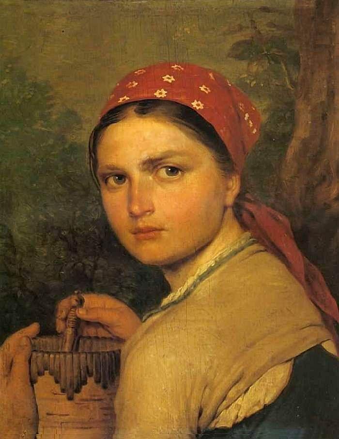 Девушка с бураком. 1824 г.  Венцианов.
