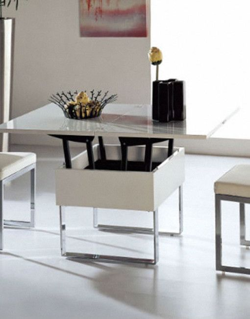 space saving table lifted and opened - sold by expand furniture
