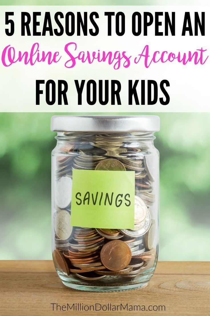Online savings accounts for kids are a great way to teach them about financial responsibility. Here are 5 reasons you should open an online savings account for your kids!