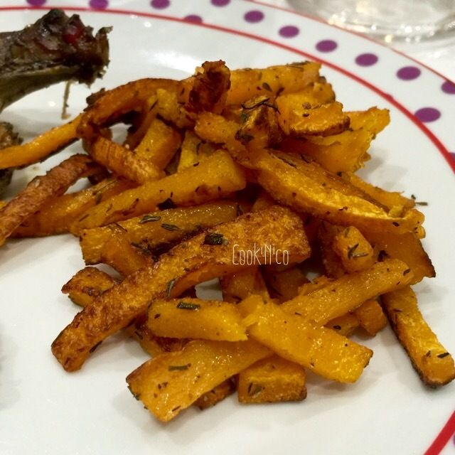 Frites de courge butternut