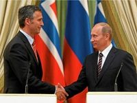 HEY..  PUTIN  LIKES  PM JENS  STOLTENBERG... Russian President Vladimir Putin is happy Norwegian Prime Minister Jens Stoltenberg is the new head of NATO because the two men get along very well. He hopes it will lead to better relations with the West. / Too bad the POTUS isn't seeking better relations.