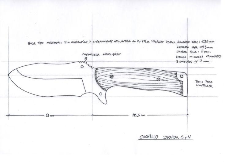 Siguiendo con la explicación sobre los diseños que realizamos para el foro SyN y fabricados por Juan Martínez, cuchillero de Albacete y desp...