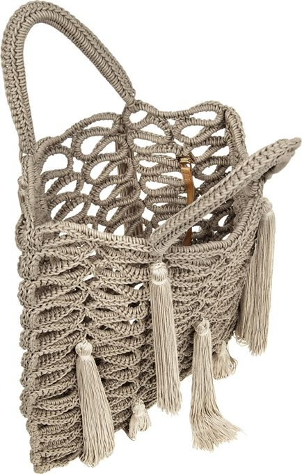 Jimmy Choo Delilah macramé tote. However I am gonna try to crochet it 2/3