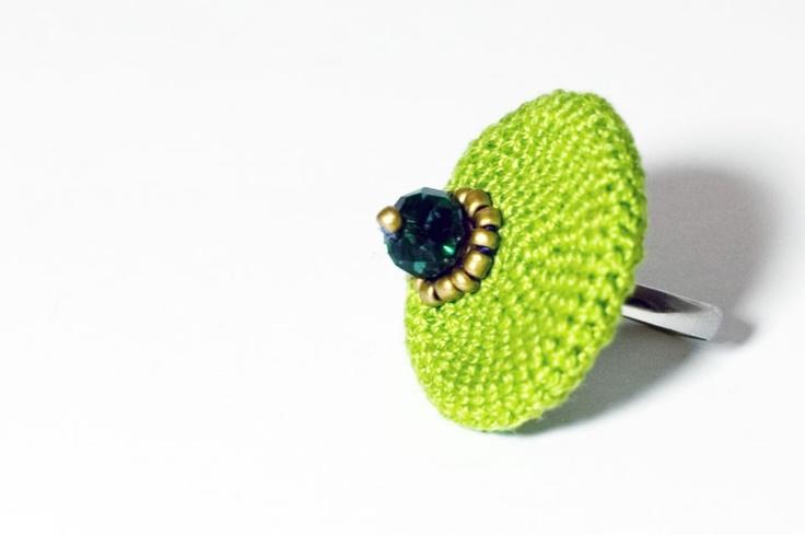 Fűzöld PET-cap gyűrű by http://www.breslo.hu/Solya/shop
