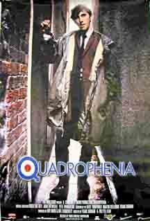 Quadrophenia...1979 Composer: The Who The buzz around the tour is testament to the enduring appeal of band, LP and film, a combination that, for a time in '70s Britain, was the zeitgeistiest thing on two wheels. Like Tommy in 1975, The Who's rock opera was the nuts-and-bolts of a Brit flick full of angry yoofs and iconic moments that made Britannia cool well ahead of schedule. Ten of the album's 17 tracks made it to the screen, with the band recording an extra three new tracks for the film.