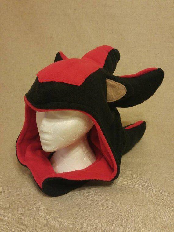 f282b0aa37e Shadow the Hedgehog Inspired Hood - Handmade Fleece Sonic Hat - Made to  Order