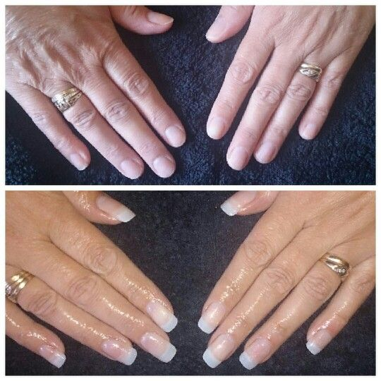 Natural tips with UV gel overlay by Sharp Nails by Carly.