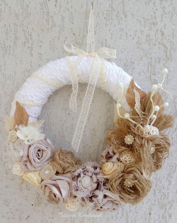 Corona rustica, decorazione natalizia, per la porta, decor weddind,camera da letto,burlap