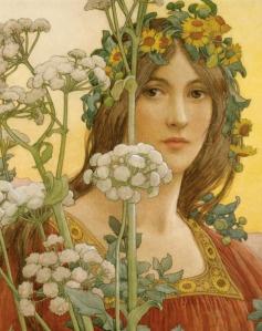 Art Nouveau painting by Elisabeth Sonrel