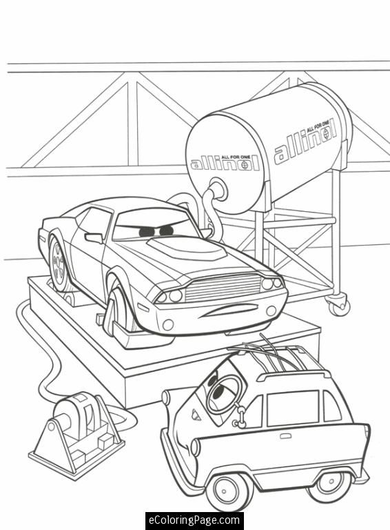 Cars 2 Coloring Pages Jeff Gorvette Coloring Pages