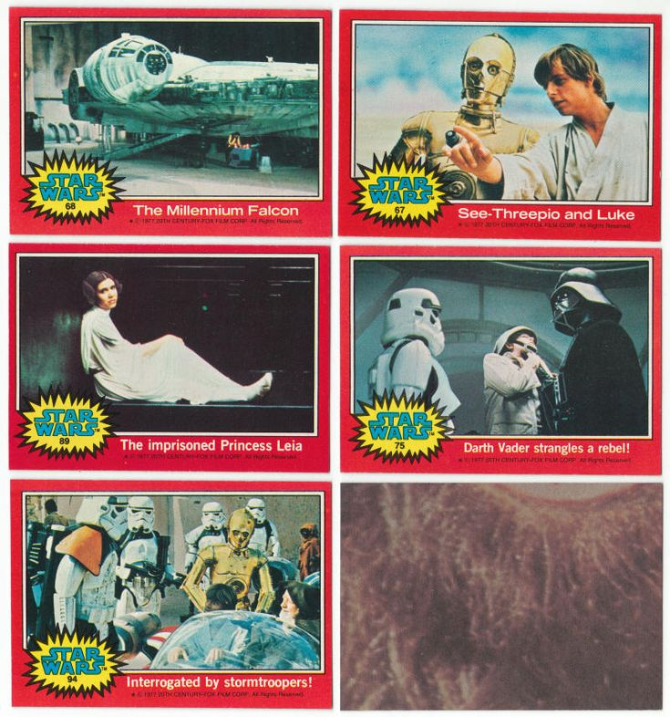 1977 topps star wars trading cards series 2 from a near