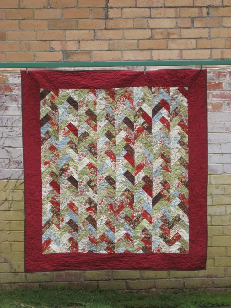 Friendship Braid Quilt Made With A Moda Jelly Roll Jelly
