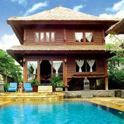 Menghadirkan Kesan Mewah Rumah Kayu Bertingkat di Bali