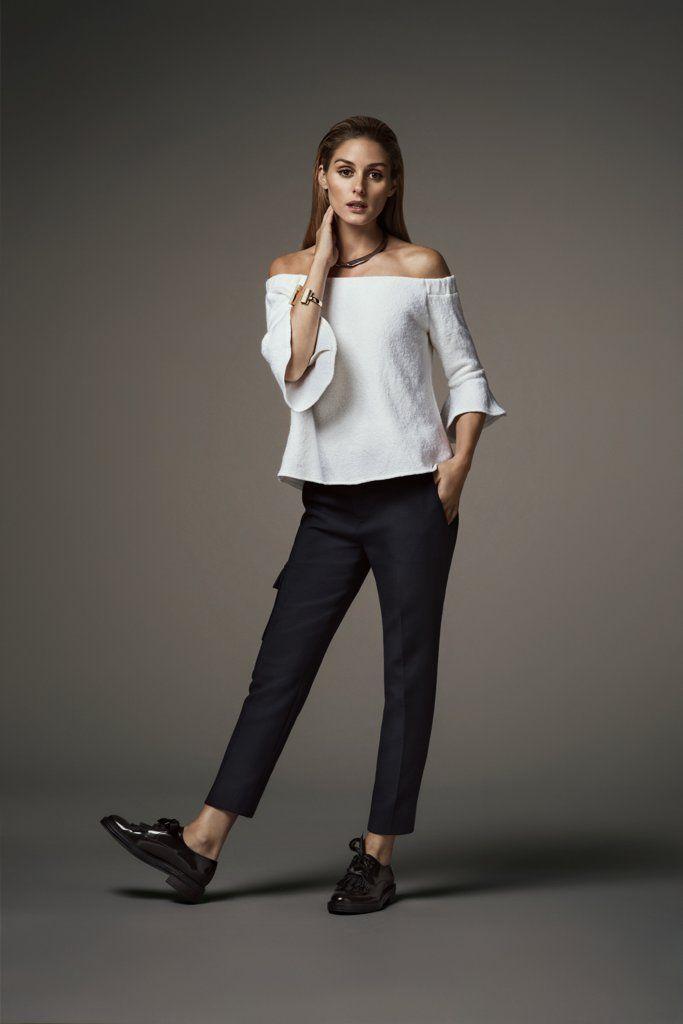 Olivia Palermo for Banana Republic Holiday 2016 Collection | Tuxedo-Waistband Trousers