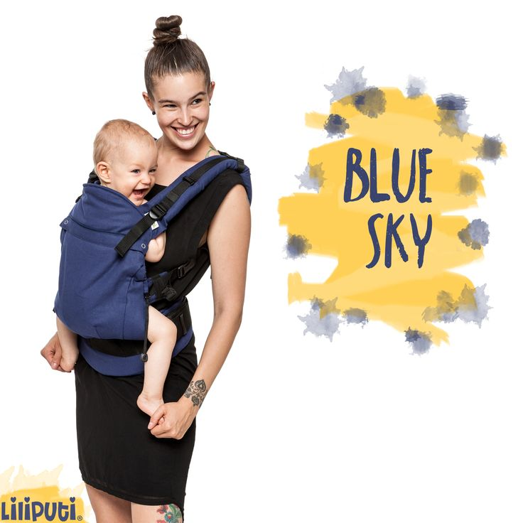 """Meet """"BLUE SKY"""".  The newest member of the Liliputi® Buckle Carrier family. It's hard to resist, right? ✨ Check out this beauty HERE: http://www.liliputibabycarriers.com/buckle-carrier/blue-sky"""