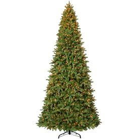 Westinghouse 12-ft Indoor Fir Artificial Christmas Tree with Clear Incandescent Lights