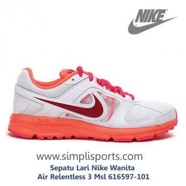 Sepatu Lari Nike Wanita Air Relentless 3 Msl 616597-101 ORI