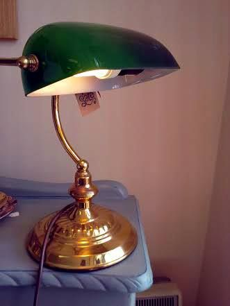 Retro Green Library Lamp For Sale In Store! Perfect For Any Office Or Study!