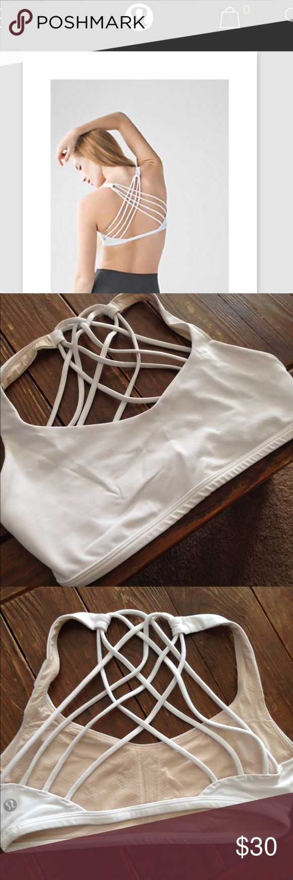 Free to be wild sports bra White free to be wild sports bra. Only worn a handful of times. lululemon athletica Other