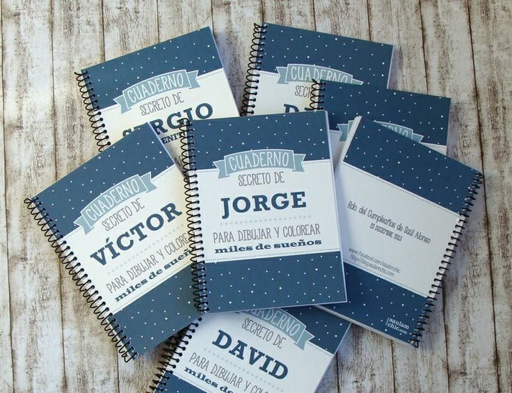 Cuadernos personalizados para regalar. Diseño: www.blog.saulamchic.com