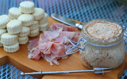 Country Ham Paté - good for football season. Pair with pimento cheese and create a cracker spread.