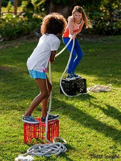 10 dicas de brincadeiras para fazer no quintal - cabo de guerra