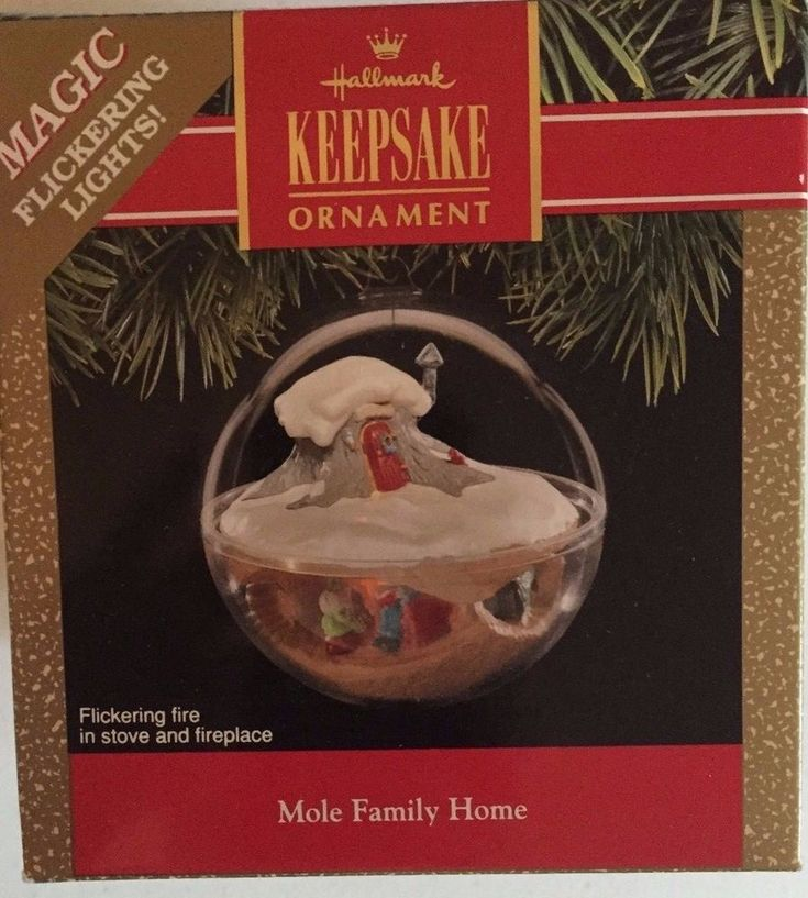 Mole Family Home 1991 Hallmark Keepsake Ornament Magic Flickering Lights QLX7149 #Hallmark