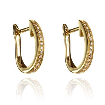Annoushka Eclipse 18ct Gold Brown Diamond Fine Hoop Earrings Simply Jewelry