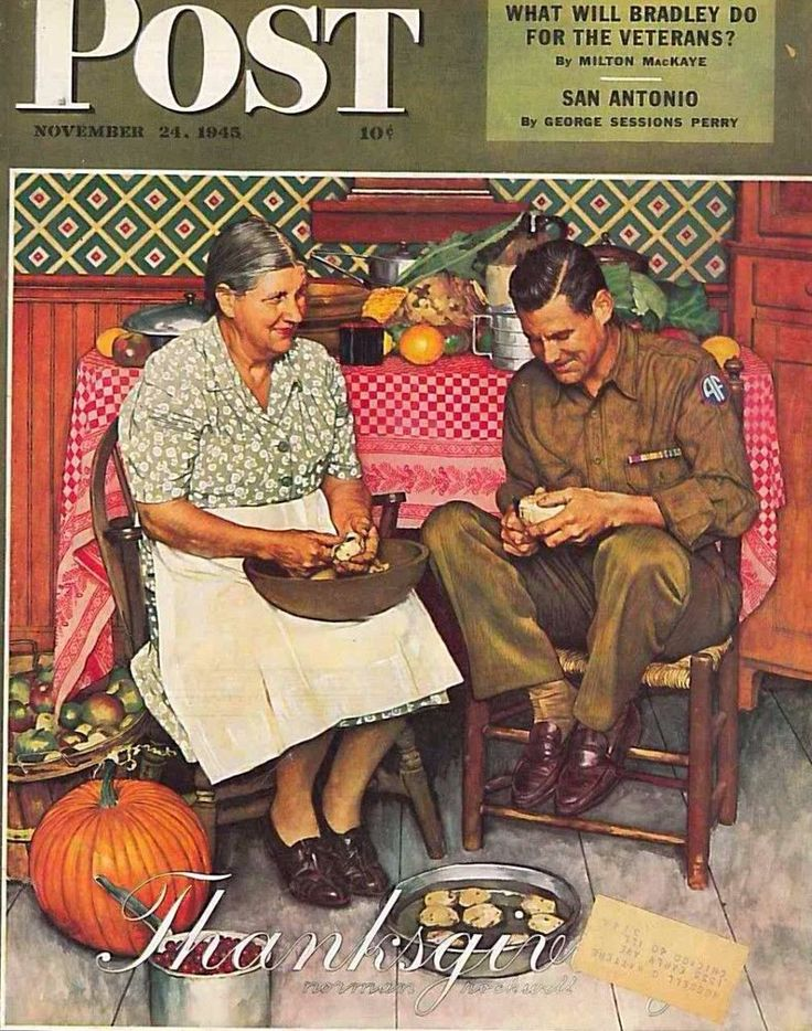 The Saturday Evening Post November 24 1945 Norman Rockwell  Thanksgiving
