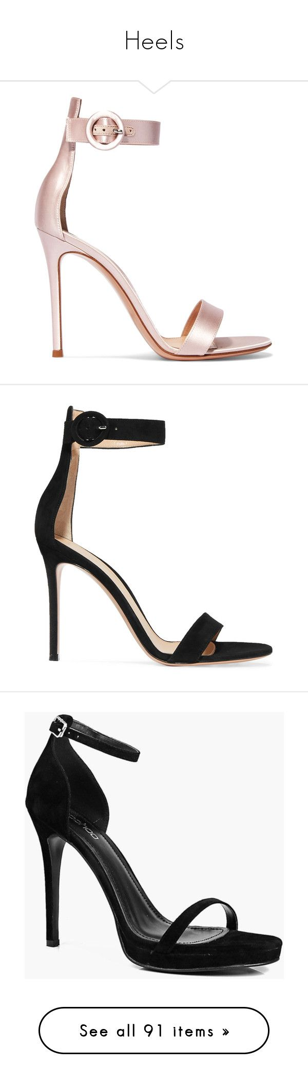 """Heels"" by zivapersonalshopping on Polyvore featuring shoes, sandals, heels, sapatos, heeled sandals, strappy high heel sandals, strap heel sandals, buckle sandals, bridal sandals and gianvito rossi"