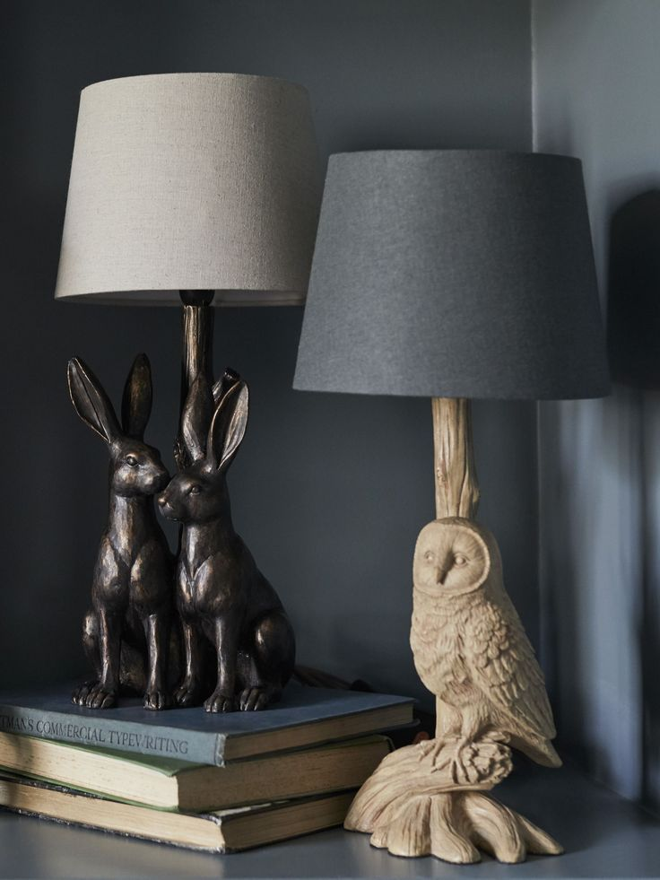 These Animal Lamps Look Most Stylish In Twos Or Threes Play About With Different Coloured Lampshades To Keep It Quirky And Cool Domashnij Dekor Nochnik Interer