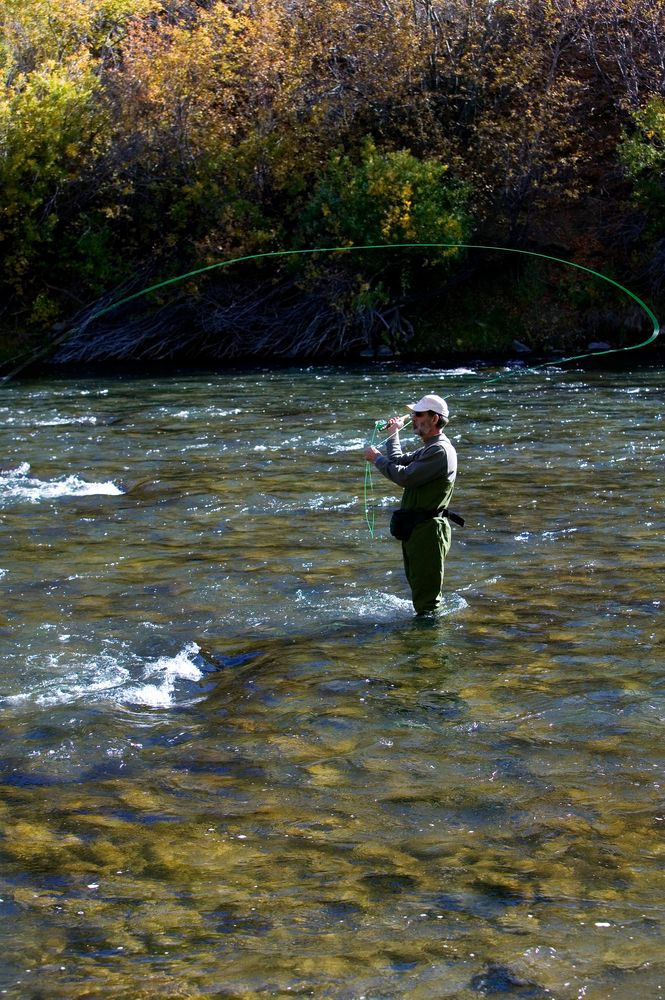 Fly Fishing  in the Truckee River near Reno, Nevada. I lived here and spalshed in that river!