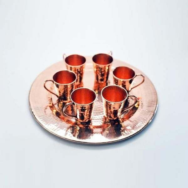 "Sertodo Copper Frutera Bowl 10/"" Hammered Copper Dish Pedestal  New Fruit Bowl"