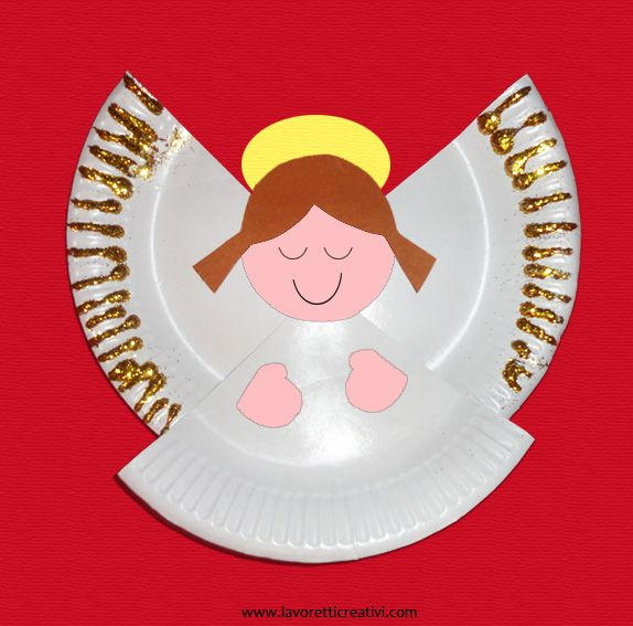 Christmas Paper Plate Angel Craft