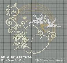 Les 35 meilleures images du tableau point de croix alliance sur pinterest point de croix - Grille gratuite point de croix coussin de mariage ...