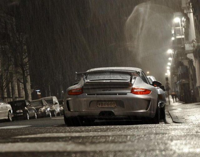 Porsche 911 GT3 in the rain #autoart Win the ultimate supercar experience by clicking on this stunning image.