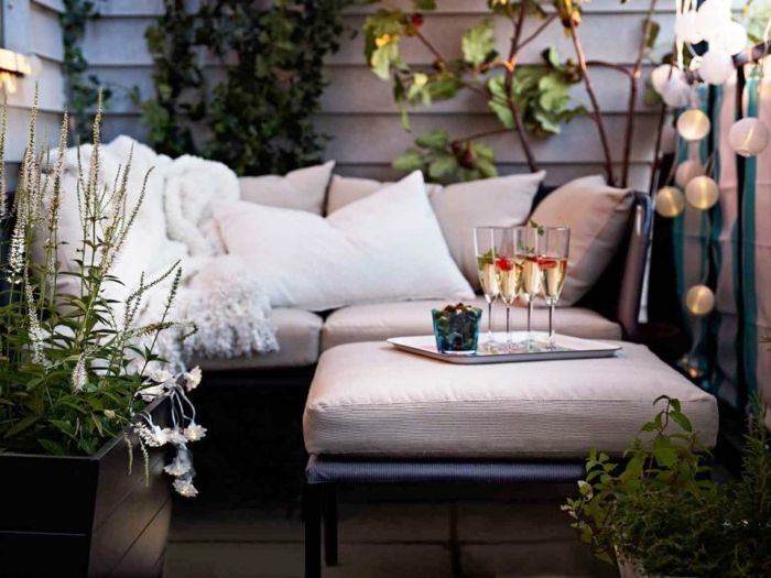 Ikea Gartenmöbel Outdoor Set Ottomane Beistelltisch Sofa Kissen Balkonmöbel