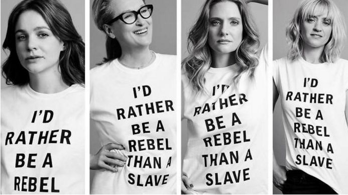 "Th t-shirts worn by actresses 4 Time Out London may have quoted suffragette leader Emmeline Pankhurst, they definitely highlighted feminism's ongoing race problem. ""Th message that Streep & co are co-signing with their grinning faces & suffragette tees is that one cannot be both enslaved & rebel"" The Root explained ""& tucked between those lines lies th erasure f a dual existence that black women have been forced to navigate in one"