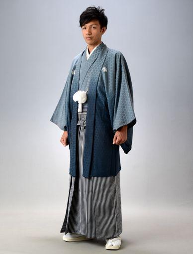 藍亀甲・仙台袴。結婚式に着たい新郎の袴姿。ウェディング・ブライダルの参考に。