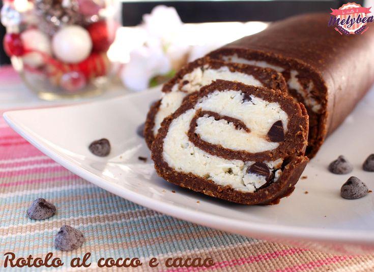 Ilrotolo al cocco e cacaoe' un dessert di semplicissima realizzazione, goloso e molto bello da presentare! E' un dolce freddo, non necessita di cottura.