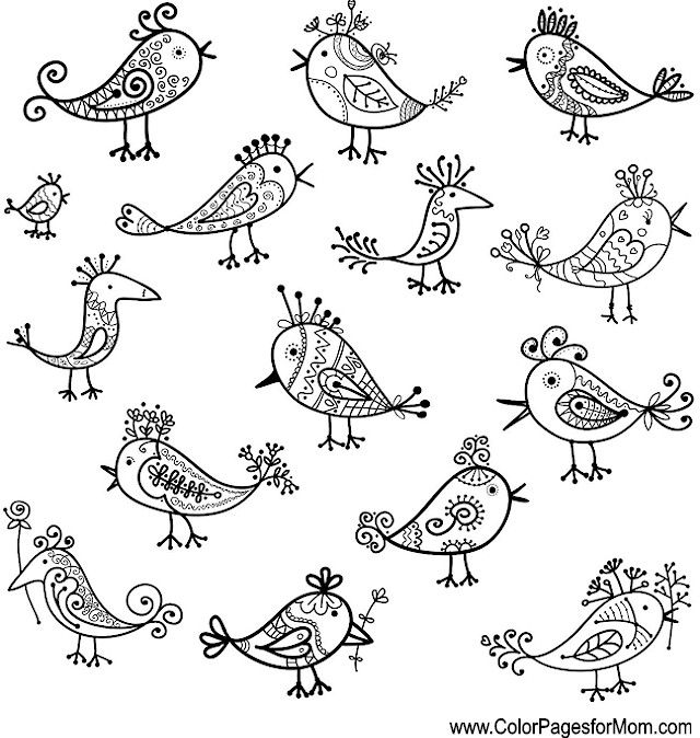 Whimsical Owl Coloring Pages