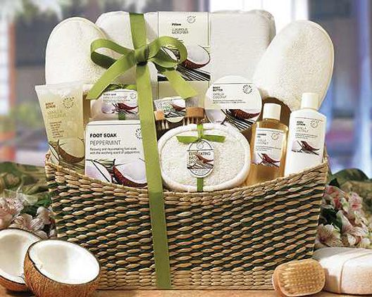 Rejuvenate Spa Gift Basket Product Containers